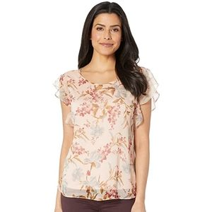 NEW Vince Camuto Ruffle Sleeve Floral Blouse - 1X